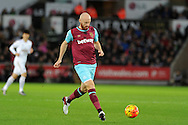James Collins of West Ham Utd in action. Barclays Premier league match, Swansea city v West Ham Utd at the Liberty Stadium in Swansea, South Wales  on Sunday 20th December 2015.<br /> pic by  Andrew Orchard, Andrew Orchard sports photography.
