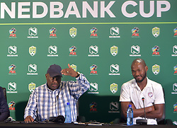 SOUTH AFRICA: JOHANNESBURG: South African soccer legend and Jomo cosmos coach Jomo Sono and the team's captain Ange Lebahi, speak during the Nedbank cup press conference, Gauteng. <br /> Picture: Itumeleng English/African News Agency(ANA)<br /> 23.01.2019