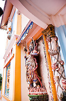 Personification of evil from the front of the Cai Dai Great Divine Temple in Tay Ninh.