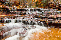 Archangel Falls is a phenomenal multi-tiered waterfall along the trail to the famous Subway in Zion National Park.  This is virtual playground for any Utah Landscape Photography.
