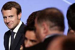 French Economy Minister Emmanuel Macron is pictured during the presentation of the 34 plans for the new industrial France on September 9, 2014 at the Elysee Palace in Paris. Photo by Stephane Lemouton/ABACAPRESS.COM