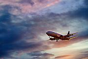 Alaska Airlines jet in flight.