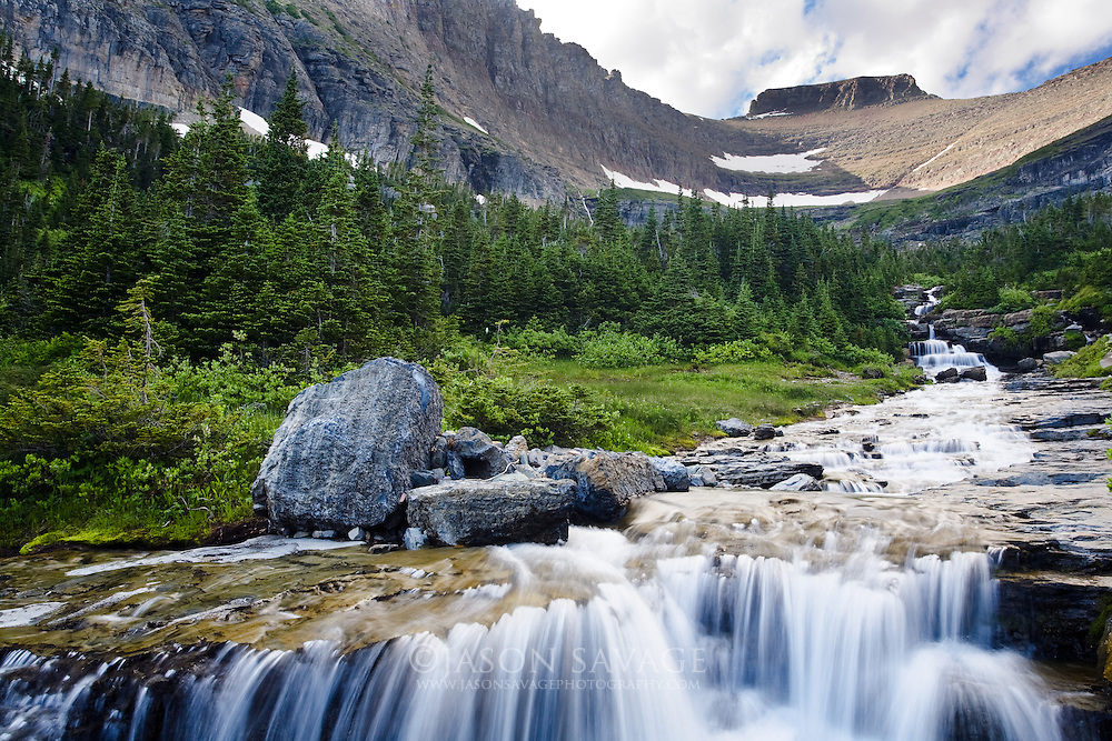 Lunch Creek in Glacier National Park Montana
