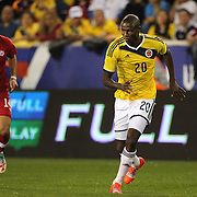 Adrian Ramos, Colombia, in action during the Colombia Vs Canada friendly international football match at Red Bull Arena, Harrison, New Jersey. USA. 14th October 2014. Photo Tim Clayton