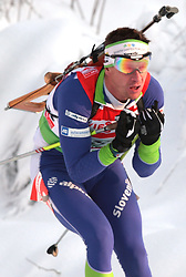 MARIC Janez of Slovenia during the relay race of the second stage of the e.on Ruhrgas IBU Biathlon World Cup on Sunday December the 13th, 2009 in Hochfilzen - PillerseeTal, Austria. (Photo by Pierre Teyssot / Sportida.com)