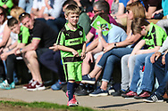 Young FGR fan during the EFL Sky Bet League 2 match between Forest Green Rovers and Chesterfield at the New Lawn, Forest Green, United Kingdom on 21 April 2018. Picture by Shane Healey.