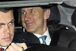 © Licensed to London News Pictures. 06/02/2019. London, UK. Foreign Secretary JEREMY HUNT is seen leaving  Battersea Park in London after the annual Black and White Ball, a fundraiser held by the Conservative Party. Photo credit: Ben Cawthra/LNP