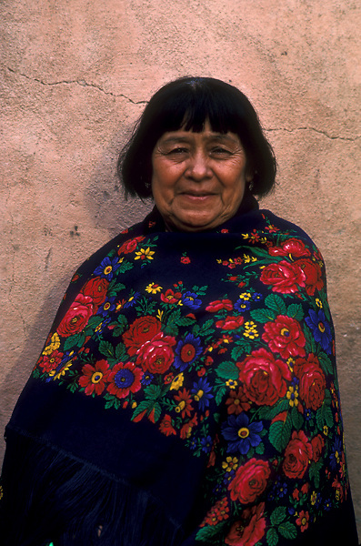 Stock photo of a portrait of a Santo Domingo Reservation Indian Woman