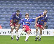 Shepards Bush, West London, UK., 30.09.2001, Diego Dominguez  London Wasps vs Stade Francais, Loftus Road Stadium,<br /> Heineken European Rugby Cup,<br /> [Mandatory Credit: Peter Spurrier/Intersport Images],