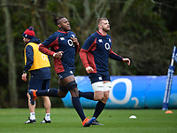 Rugby Union - 2020 Six Nations Championship - England Training Session & Press Conference pre-Ireland<br /> <br /> England's Maro Itoje with George Kruis, at Pennyhill Park Hotel.<br /> <br /> COLORSPORT/ASHLEY WESTERN