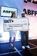 Miami Beach, Florida, NY-June 23: (L-R) Constance White, VP, Original Programming, BET and On-air Personality/Director Russ Parr attends the 2012 American Black Film Festival Winners Circle Awards Presentation held at the Ritz Carlton Hotel on June 23, 2012 in Miami Beach, Florida (Photo by Terrence Jennings)