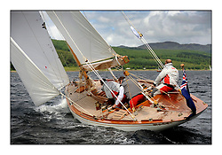 Day three of the Fife Regatta, Cruise up the Kyles of Bute to Tighnabruaich<br /> <br /> Saskia, 13, Murdoch McKillop, GBR, Bermudan Sloop, Wm Fife 3rd, 1931 <br /> <br /> * The William Fife designed Yachts return to the birthplace of these historic yachts, the Scotland's pre-eminent yacht designer and builder for the 4th Fife Regatta on the Clyde 28th June–5th July 2013<br /> <br /> More information is available on the website: www.fiferegatta.com