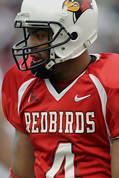 04 November 2006: Pierre Jackson.&#xD;In a decisive victory, the Illinois State Redbirds defeat the Missouri State Bears 38-14 at Hancock Stadium on the campus of Illinois State University in Normal Illinois.<br />