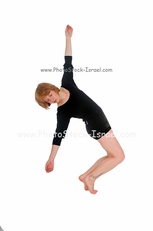 Female Contemporary Dancer On white Background