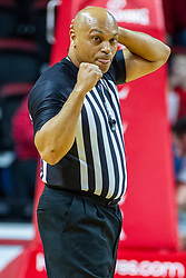 NORMAL, IL - December 18:  Ed Crenshaw  applies an offensive player control foul during a college basketball game between the ISU Redbirds and the UIC Flames on December 18 2019 at Redbird Arena in Normal, IL. (Photo by Alan Look)