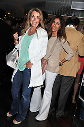 Left to right, GRANIA STEPHENSON and LULU MOORE at a party to celebrate the launch of Jax Coco - a new soft drink, held at Harvey Nichols 5th Floor Bar, 109-125 Knightsbridge, London on 25th June 2012.