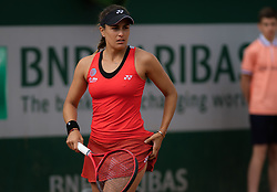 May 28, 2019 - Paris, FRANCE - Monica Puig of Puerto Rico in action during her first-round match at the 2019 Roland Garros Grand Slam tennis tournament (Credit Image: © AFP7 via ZUMA Wire)