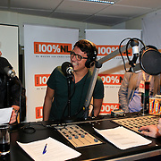 NLD/Hilversum/20130109 - Uitreiking 100% NL Awards 2012, Gerard Joling en Jan Smit in de studio