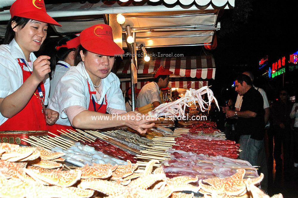China, Beijing, Night Street food Market