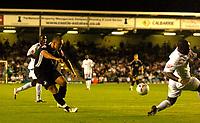 Photo: Alan Crowhurst.<br />MK Dons v Swansea. Coca Cola League 1.<br />13/09/2005. Lee Trundle shoots at goal for Swansea.