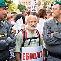 Manifestazione dei lavoratori esodati