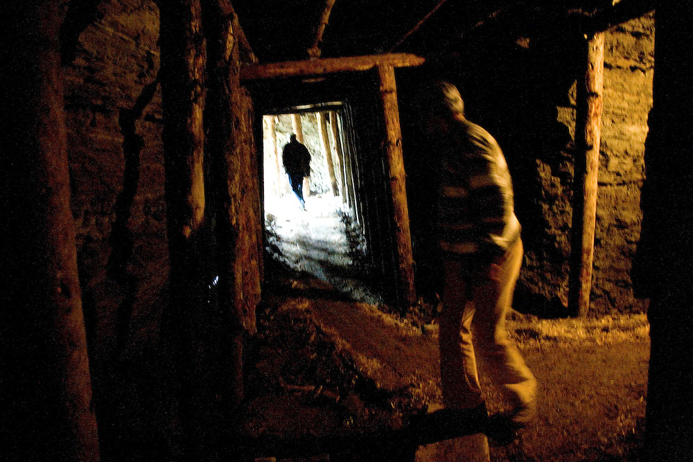 """A tour of Saudi businessmen at a tunnel complex near the town center...Bosnian Pyramids.Visoko, Bosnia and Herzegovina. **The authenticity of the """"Bosnian Pyramids"""" has been a point of heated debate in the scientific community**"""