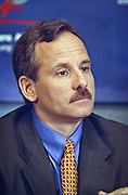 Jeff Papows, President and CEO of Lotus Development Corporation, a subsidiary of IBM attends a press conference by the Business Software Alliance June 16, 1999 in Washington, DC.