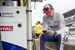 May 18, 2018 - Indianapolis, Indiana, United States of America - GRAHAM RAHAL (15) of the United States hangs out on pit road afte a practice run during ''Fast Friday'' for the Indianapolis 500 at the Indianapolis Motor Speedway in Indianapolis, Indiana. (Credit Image: © Chris Owens Asp Inc/ASP via ZUMA Wire)