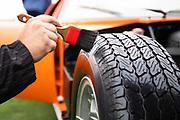 August 15, 2019:  Pebble Beach Concours, Lamborghini Miura wheel detail