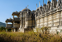 RANAKPUR, INDIA - CIRCA NOVEMBER 2016:  Jain Temple of Ranakpur in Rajasthan, India.