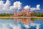 Photographic art of reflections and the Royal Hawaii hotel