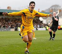 Photo: Steve Bond/Sportsbeat Images.<br />Torquay United v Exeter City. The FA Blue Square Premier. 01/01/2008. Tim Sills celebrates