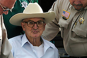 Former Ku Klux Klansman 80 year old Edgar Ray Killen leaves the Neshoba County jail in Philadelphia Mississippi Friday August 12,2005 after he posted bond He was released pending his appeal.