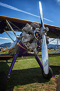 Civilianized Stearman at Hood River Fly In at Western Antique Aeroplane and Automobile Museum
