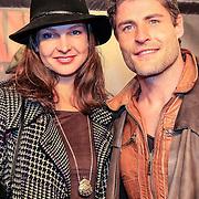 NLD/Amsterdam/20130114 - Premiere Django Unchained, Koert Jan de Bruijn en partner Charlotte Hulskamp