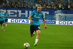 August 24, 2017 - Saint-Petersburg, Russia - Of The Russian Federation. Saint-Petersburg. Zenit-Arena. Arena Saint-Petersburg. The UEFA Europa League. The second leg of the round of the playoffs Zenit - Utrecht. Zenit won with the score 2:0. Player Igor Smolnikov. (Credit Image: © Russian Look via ZUMA Wire)