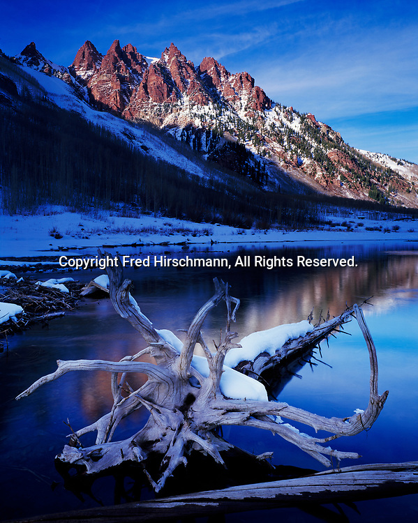 Sievers Mountain and Maroon Lake, White River National Forest, Colorado.