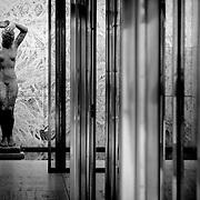 Barcelona Pavilion sculpture, Barcelona, Spain (December 2006)
