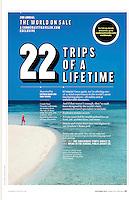Conde Nast Traveler US Sept 2013, Trips of Lifetime, Conde Nast, Maldives, Beach, Model,