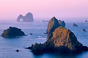 Mack Reef and Mack Arch at Sunrise, Oregon Islands, National Wildlife Refuge, Oregon