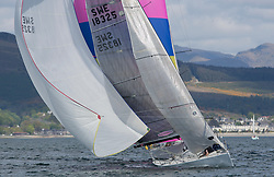 Pelle P Kip Regatta 2019 Day 1<br /> <br /> Light and bright conditions for the opening racing on the Clyde keelboat season<br /> <br /> SWE18325, Wild Haggis, Ewan and Jackie Mackay, Loch Lomond SC, Farr 30