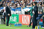 (L to R) Fabio Capello, England head coach, Takeschi Okada, Japan team head coach, May 30, 2010 - Football : World Cup South Africa 2010 test match ,  match between Japan 1-2 England  at Libenau stadium, Graz, Austria, (Photo by Enrico Calderoni/AFLO SPORT) [0391]