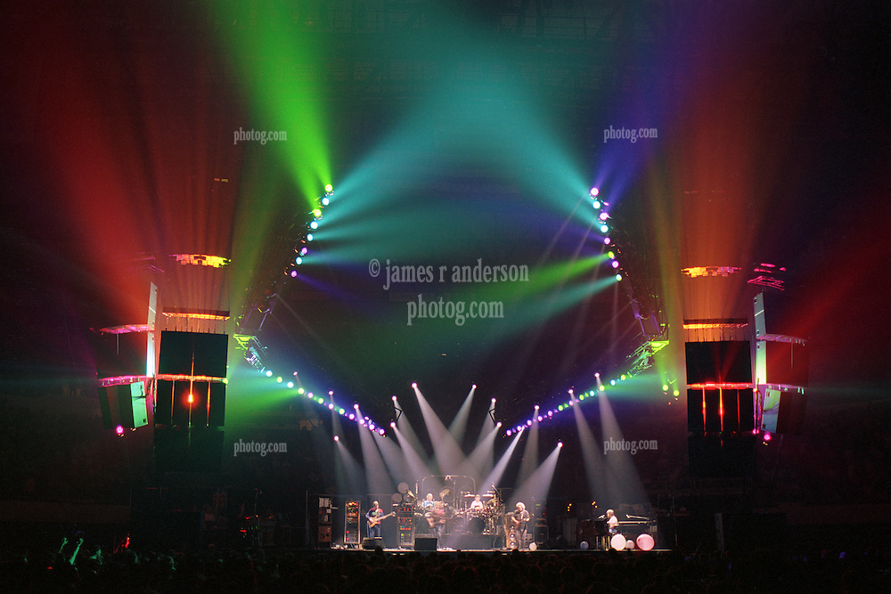 """The Grateful Dead performing """"Space"""" at the Nassau Coliseum, Uniondale NY, 30 March 1990. Wide Lighting Look Image Capture."""