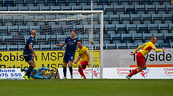 Partick Thistle's Kenny Miller cele scoring their first goal. Dundee 1 v 3 Partick Thistle, Scottish Championship game player 19/10/2019 at Dundee stadium Dens Park.
