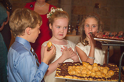 children at a desert buffet at a wedding