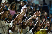 Ribeirao das Neves_MG, Brasil...Cineasta norte-americano David Lynch, em passagem no Brasil, que reuniu mais de 5000 criancas na Cidade dos Meninos Sao Vicente de Paula...The American cineaste David Lynch, visited to Brasil in Cidade dos Meninos Sao Vicente de Paula...Fotos: JOAO MARCOS ROSA / NITRO.