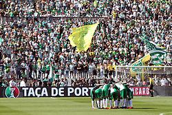 May 20, 2018 - Lisbon, Portugal - Sporting's team players during the Portugal Cup Final football match CD Aves vs Sporting CP at the Jamor stadium in Oeiras, outskirts of Lisbon, on May 20, 2015. (Credit Image: © Pedro Fiuza/NurPhoto via ZUMA Press)