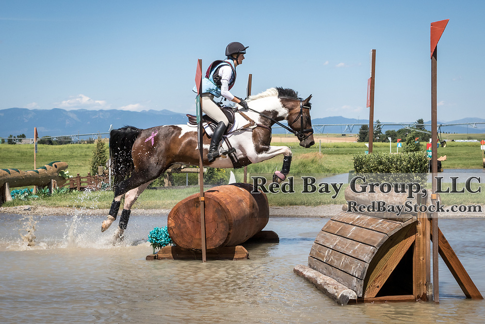 Andora Tutvedt riding Sugar and Spice at The Event at Rebecca Farm in Kalispell, Montana.