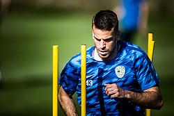Domen Crnigoj of Slovenia national football team during practice session, on June 3, 2019 in Kranjska Gora, Slovenia. Photo by Peter Podobnik/ Sportida