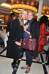 Left to right, JODIE KIDD and CAROLINE FLEMING at a lunch to launch Cash & Rocket on Tour 2013 hosted by Julia Brangstrup in aid of Orpan Aid and Shine on Sierrra Leone held at Banca, 40 North Audley Street, London on 29th April 2013.